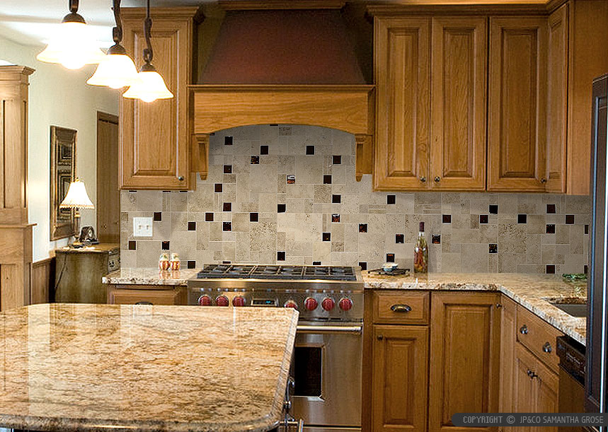 kitchen backsplash ideas dark cherry cabinets suitable with ...
