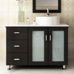 : modern bathroom vanities tempered glass design vessel sink