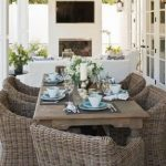 : modern wicker dining room chairs