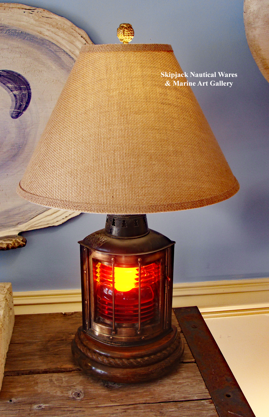 nautical buoy table lamps also nautical beach table lamps