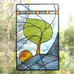 : round stained glass window hangings