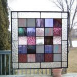 : stained glass butterfly window hanging