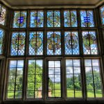 : stained glass window hanging art