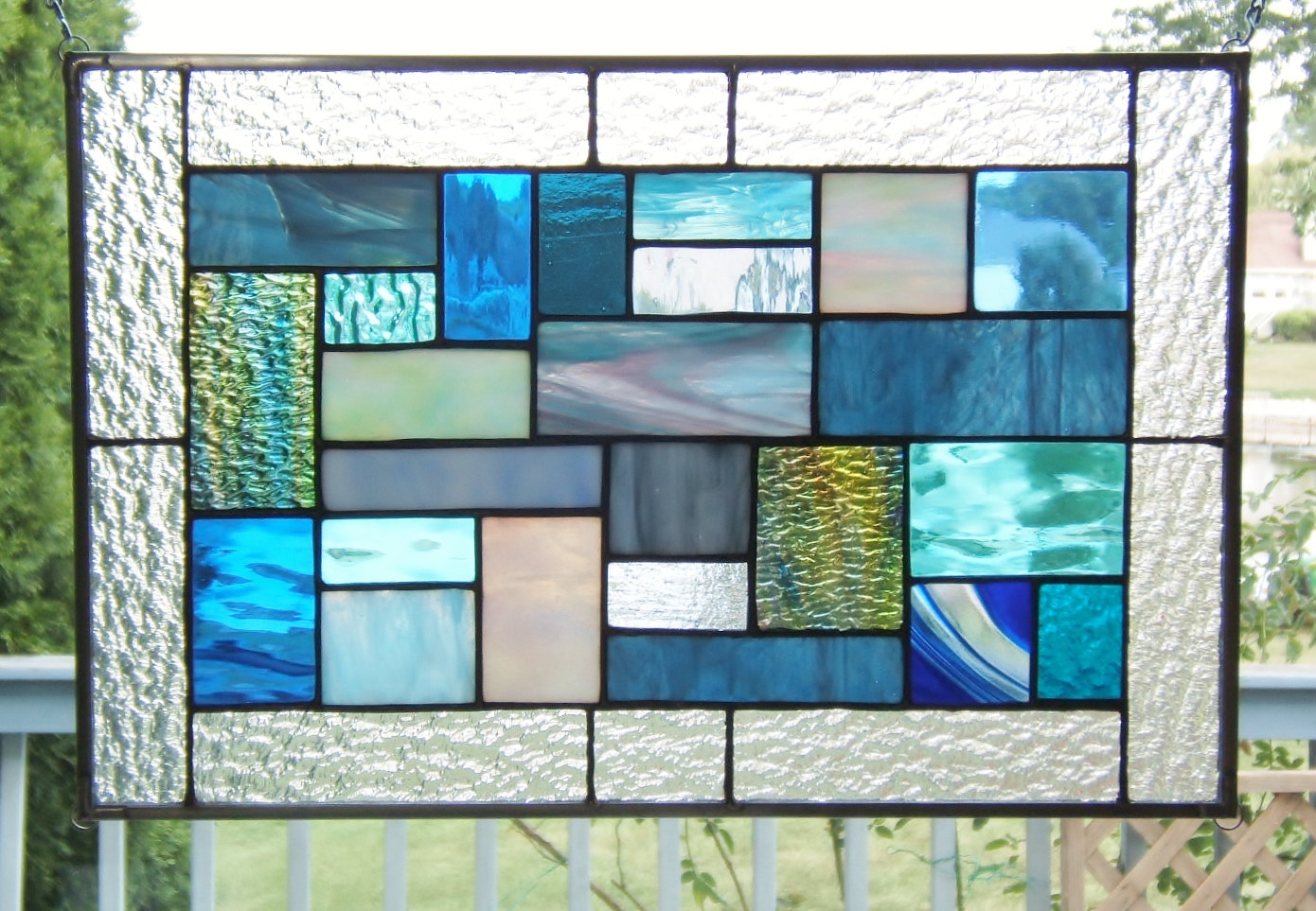 stained glass window hangings birds