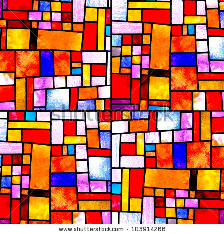 stained glass window knitting pattern