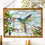 : stained glass window wall hanging