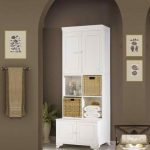 : tall bathroom cabinet dark wood also tall bathroom cabinet doors