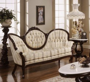victorian leather living room furniture