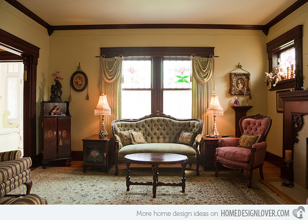 victorian living room drapes suitable with victorian living ...
