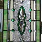: vintage stained glass window hangings