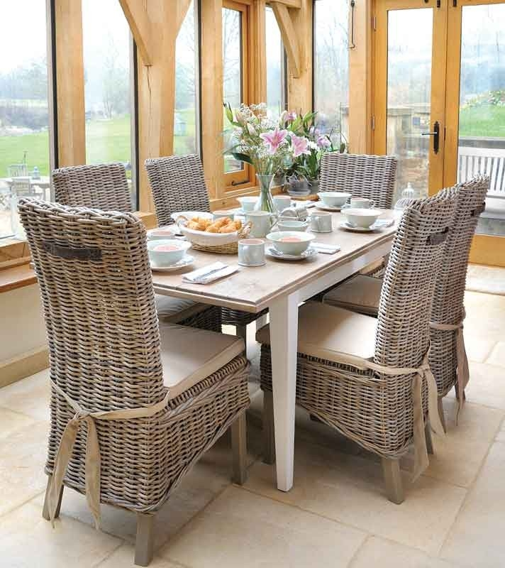 Wicker Dining Room Chairs With Arms Suitable With Wicker