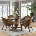 : wicker dining table and chairs suitable with rattan dining room arm chairs